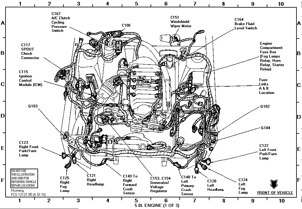 95 mustang air bag module location  95  get free image