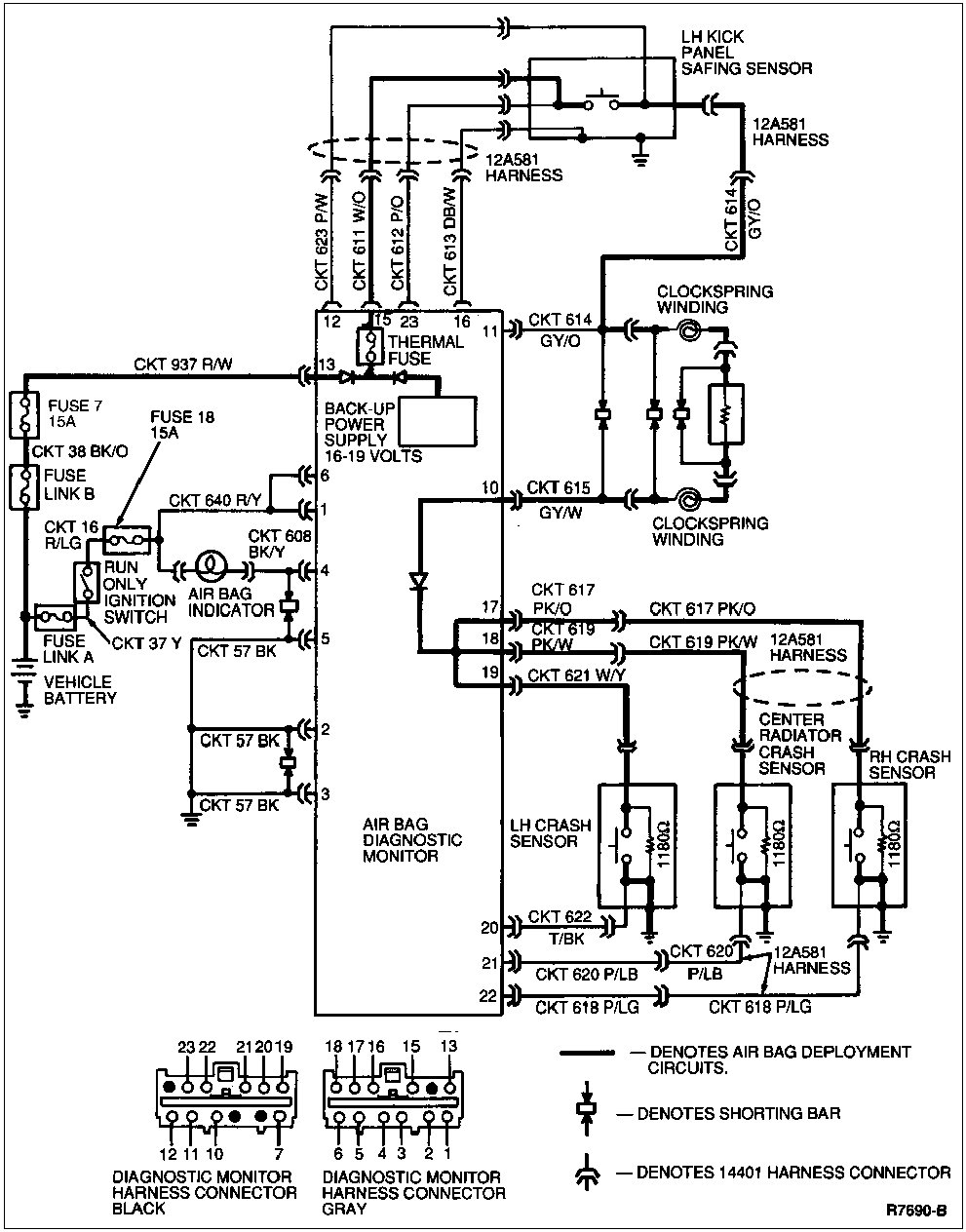 1992 Mustang Gt Wiring Diagram Library Schematic Air Bag